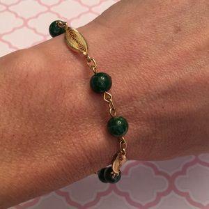 Vintage 1/20 12K GF Bracelet with Glass Beads